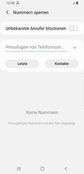 Samsung Galaxy S9 - Android Pie - Anrufe - Anrufe blockieren - Schritt 8