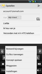 HTC Desire 516 - E-mail - E-mails verzenden - Stap 12