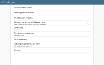 Samsung Galaxy Tab4 10.1 4G (SM-T535) - Contacten en data - Contacten kopiëren van toestel naar SIM - Stap 6