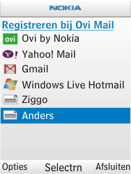Nokia X2-00 - e-mail - handmatig instellen - stap 6