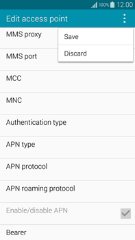 Samsung N910F Galaxy Note 4 - MMS - Manual configuration - Step 15