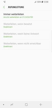 Samsung Galaxy S9 - Anrufe - Rufumleitungen setzen und löschen - Schritt 12