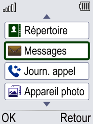 Doro Phone Easy 621 - Contact, Appels, SMS/MMS - Envoyer un MMS - Étape 3