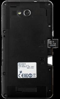 Sony Xperia E4G - SIM-Karte - Einlegen - 4 / 8