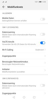 Huawei P20 Pro - Android Pie - Internet und Datenroaming - Prüfen, ob Datenkonnektivität aktiviert ist - Schritt 5