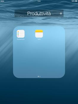 Apple iPad mini iOS 8 - Operazioni iniziali - personalizzazione della schermata iniziale - Fase 5