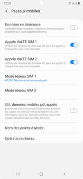 Samsung Galaxy Note 20 Ultra 5G - Réseau - Comment activer une connexion au réseau 4G - Étape 8