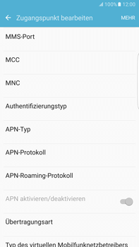 Samsung G928F Galaxy S6 edge+ - Android M - Internet - Manuelle Konfiguration - Schritt 12