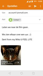 Wiko U-Feel Lite - E-mail - E-mails verzenden - Stap 15