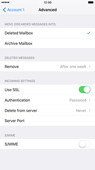 Apple iPhone 6 Plus iOS 9 - E-mail - manual configuration - Step 21