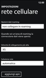 Nokia Lumia 800 / Lumia 900 - Rete - Selezione manuale della rete - Fase 5