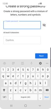 Samsung Galaxy S10e - Applications - Create an account - Step 13