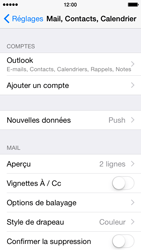 Apple iPhone 5s iOS 8 - E-mail - 032c. Email wizard - Outlook - Étape 10