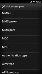 Sony Xperia J - MMS - Manual configuration - Step 12
