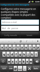 Sony ST25i Xperia U - E-mail - Configuration manuelle - Étape 5