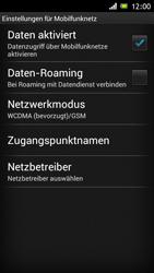 Sony Xperia J - Internet und Datenroaming - Deaktivieren von Datenroaming - Schritt 7