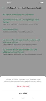 Oppo Find X2 - Gerät - Zurücksetzen auf die Werkseinstellungen - Schritt 9