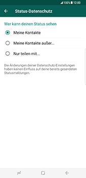 Samsung Galaxy S8 Plus - Datenschutz und Sicherheit - WhatsApp schützen und Datenschutz verwalten - 13 / 18