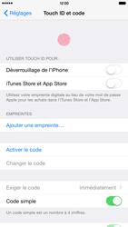 Apple iPhone 6 Plus iOS 8 - Sécuriser votre mobile - Activer le code de verrouillage - Étape 4