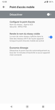 Sony Xperia XZ3 - Internet - comment configurer un point d'accès mobile - Étape 7