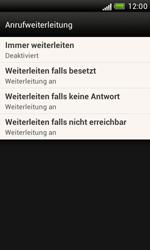 HTC Desire X - Anrufe - Rufumleitungen setzen und löschen - 5 / 8
