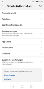 Huawei Mate 10 Pro - Android Pie - Startanleitung - So aktivieren Sie eine SIM-PIN - Schritt 4