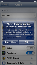 Apple iPhone 5 - Applications - configuring the Apple iCloud Service - Step 7