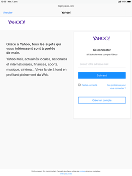 Apple iPad Air (2019) - iPadOS 13 - E-mail - 032b. Email wizard - Yahoo - Étape 6