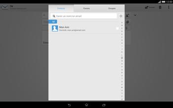Sony Xperia Tablet Z2 (SGP521) - E-mail - envoyer un e-mail - Étape 5