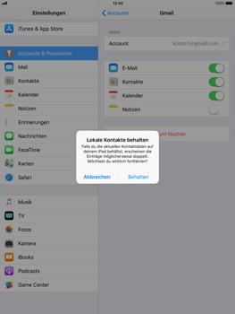 Apple iPad Air - Kontakte - Sicherheitskopie des Geräts mit OS-Konto erstellen - 2 / 2
