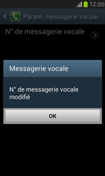 Samsung I8190 Galaxy S III Mini - Messagerie vocale - configuration manuelle - Étape 8