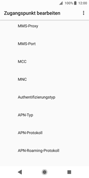 Sony Xperia XZ2 - MMS - Manuelle Konfiguration - 11 / 25