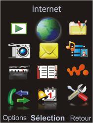 Sony W595 - Internet - Navigation sur Internet - Étape 2