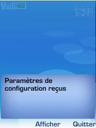Nokia 6233 - MMS - configuration automatique - Étape 3