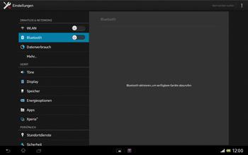Sony Xperia Tablet Z LTE - Bluetooth - Verbinden von Geräten - Schritt 5
