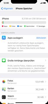 Apple iPhone X - Apps - Automatisches Entfernen nicht genutzter Apps aktivieren - 1 / 1