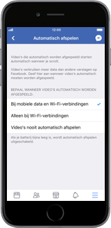 Apple iPhone 12 - apps - deactiveer automatisch afspelen in Facebook - stap 9