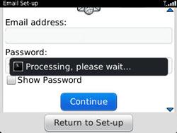 BlackBerry 9320 Curve - E-mail - Manual configuration - Step 9