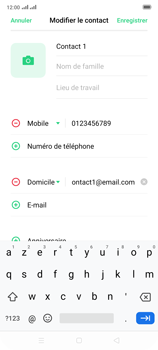 Oppo Reno 2 - Contact, Appels, SMS/MMS - Ajouter un contact - Étape 11
