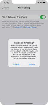 Apple iPhone XR - iOS 14 - WiFi - Enable WiFi Calling - Step 7