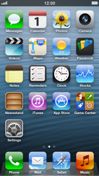 Apple iPhone 5 - Getting started - Personalising your Start screen - Step 1
