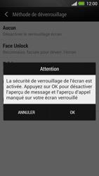 HTC One - Sécuriser votre mobile - Activer le code de verrouillage - Étape 11