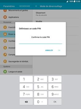 Samsung Galaxy Tab A - Sécuriser votre mobile - Activer le code de verrouillage - Étape 9