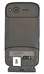 HTC S510e Desire S - SIM-Karte - Einlegen - Schritt 4