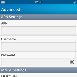 BlackBerry Q10 - MMS - Manual configuration - Step 8