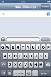 Apple iPhone 4 S iOS 6 - MMS - Sending a picture message - Step 3
