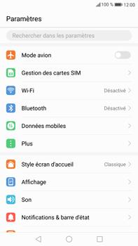 Huawei Mate 9 - Internet et roaming de données - Comment vérifier que la connexion des données est activée - Étape 3