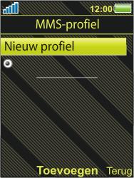 Sony Ericsson W995 - MMS - handmatig instellen - Stap 6