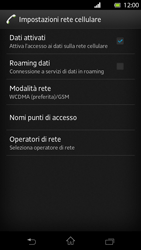 Sony Xperia T - Internet e roaming dati - Disattivazione del roaming dati - Fase 7
