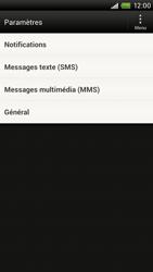 HTC S720e One X - SMS - configuration manuelle - Étape 4